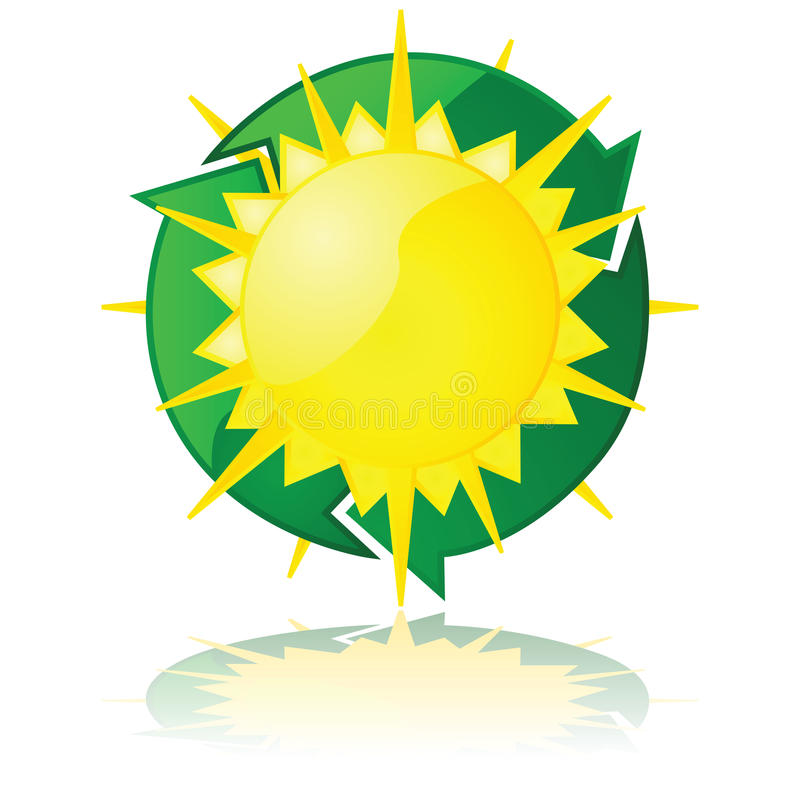 Download Solar power stock vector. Image of clean, heat, sign - 27810145