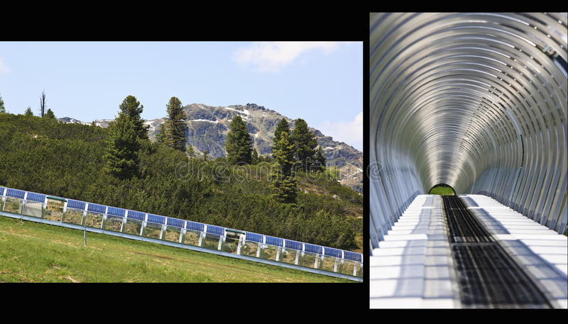 The solar power Gallery enclosure, Isskogel, Austr stock photo