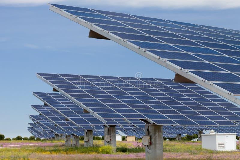 Solar power generation stock photo