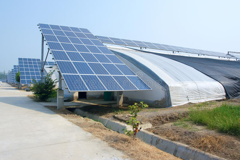 Solar power hothouse. The close-up of solar power hothouse royalty free stock photo