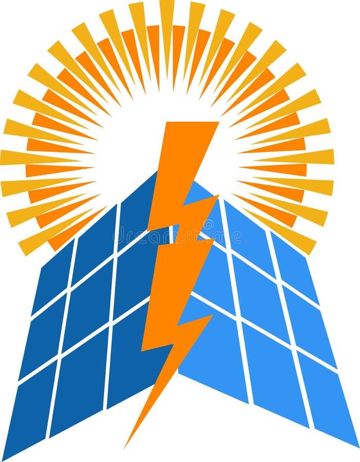 Solar power logo vector illustration