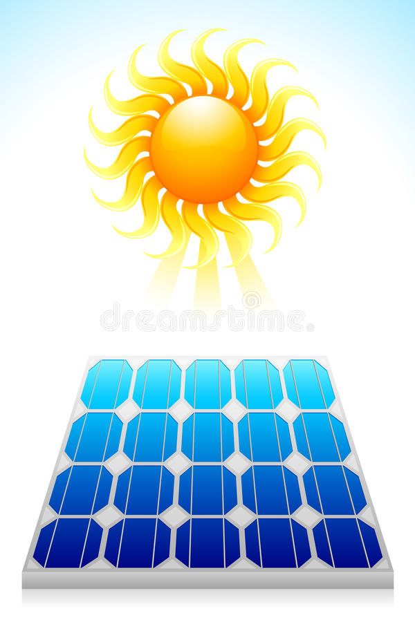 Download Solar Power Panel stock vector. Image of green, graphic - 26347145