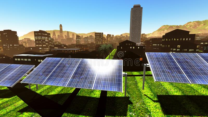 Download Solar Power Panels In City Royalty Free Stock Images - Image: 26826519