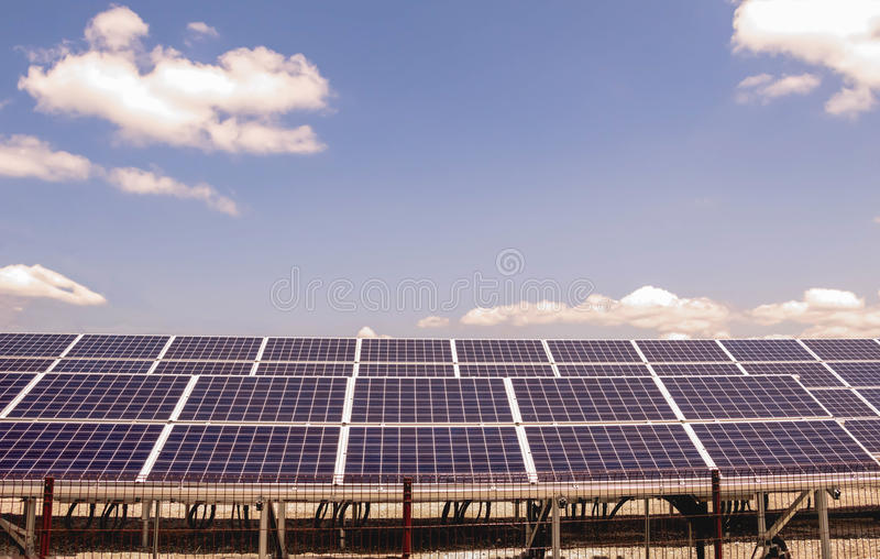 Solar power panels royalty free stock images