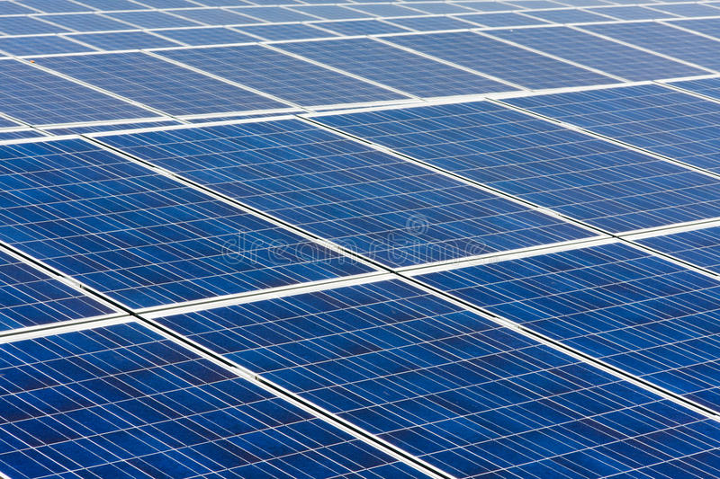 Solar power plant stock photos