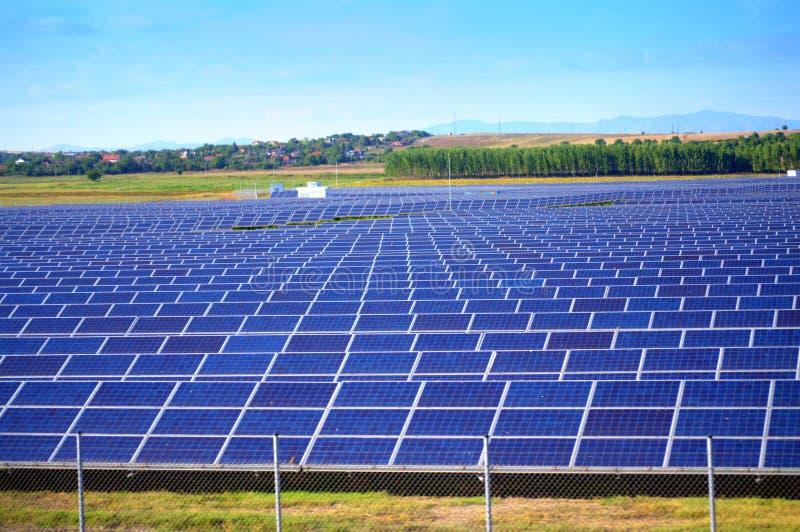 Solar power plant royalty free stock photography