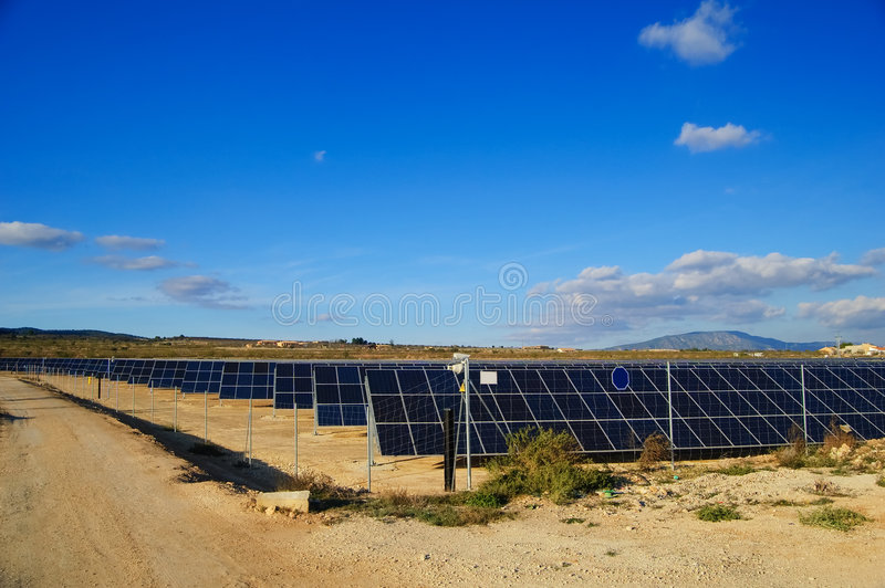Solar power plants. stock photography