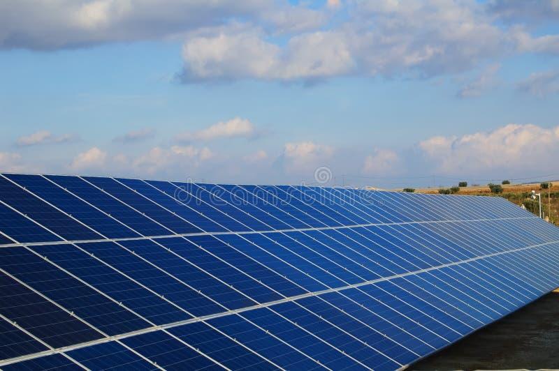 Solar power plants. royalty free stock photo
