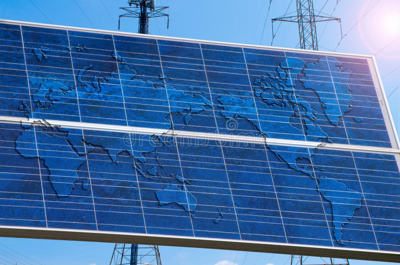 Download A Solar Power Powered World Royalty Free Stock Photos - Image: 24743488