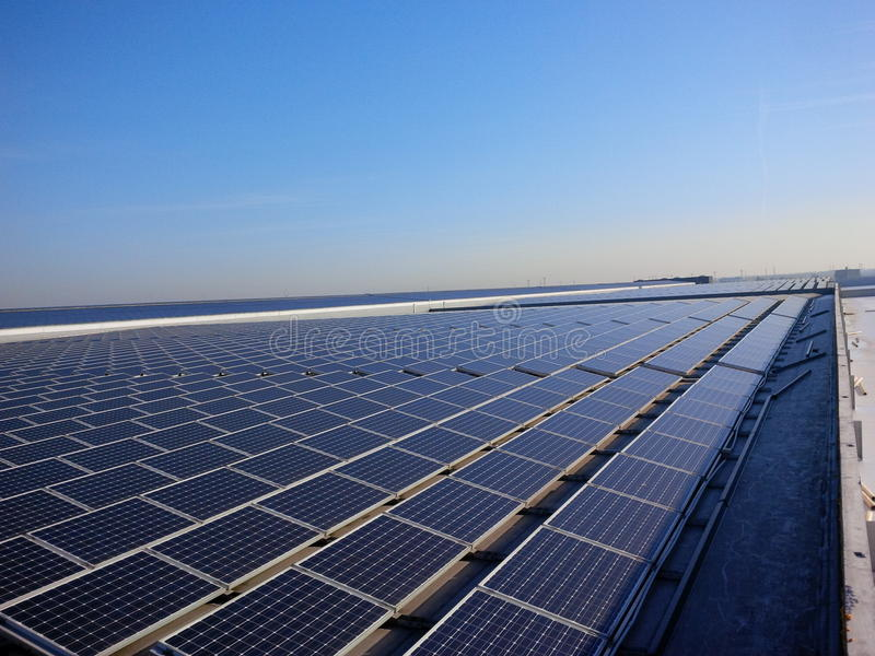 Solar power rooftop royalty free stock images