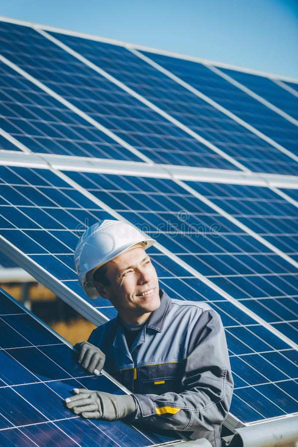 Solar power station stock images