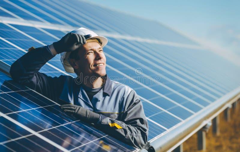 Solar power station royalty free stock photography