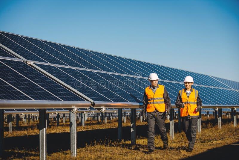 Solar power station stock image