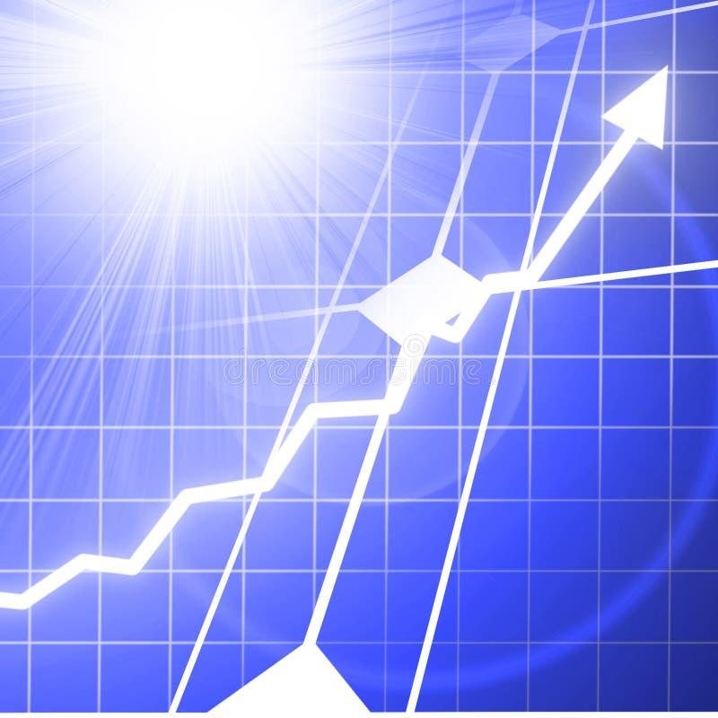 Solar power success royalty free illustration
