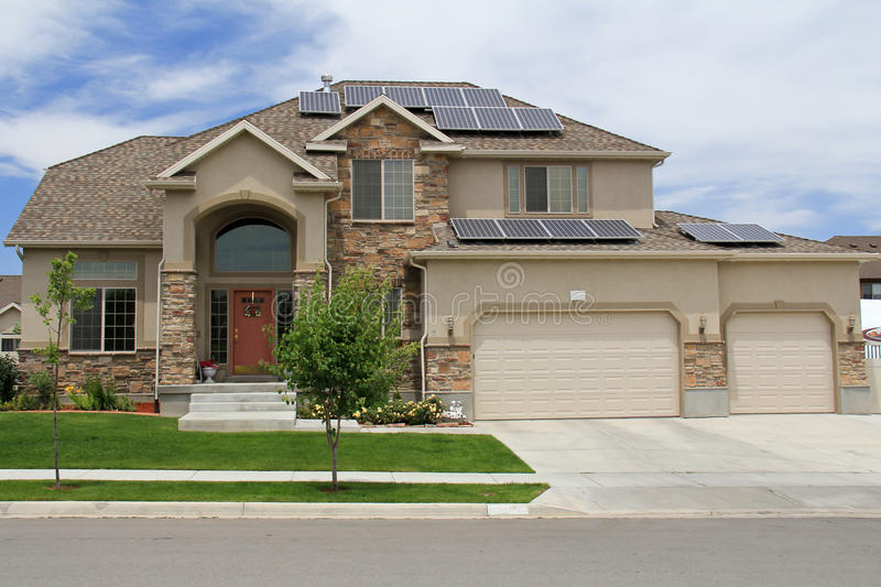 Solar Powered Home in Utah royalty free stock images