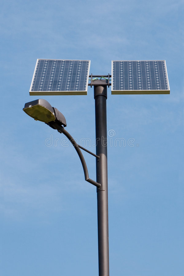 Solar Powered Lamp Post Stock Photo - Image: 8864950