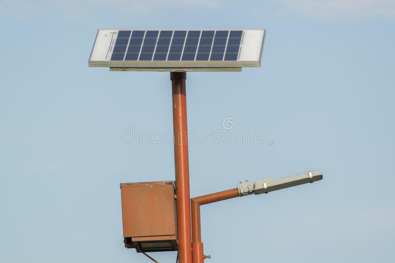 Solar Powered Lamp Post Stock Photo - Image: 54246116