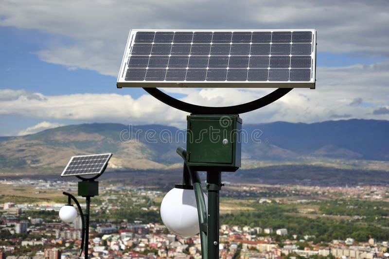Solar Powered lights royalty free stock photo