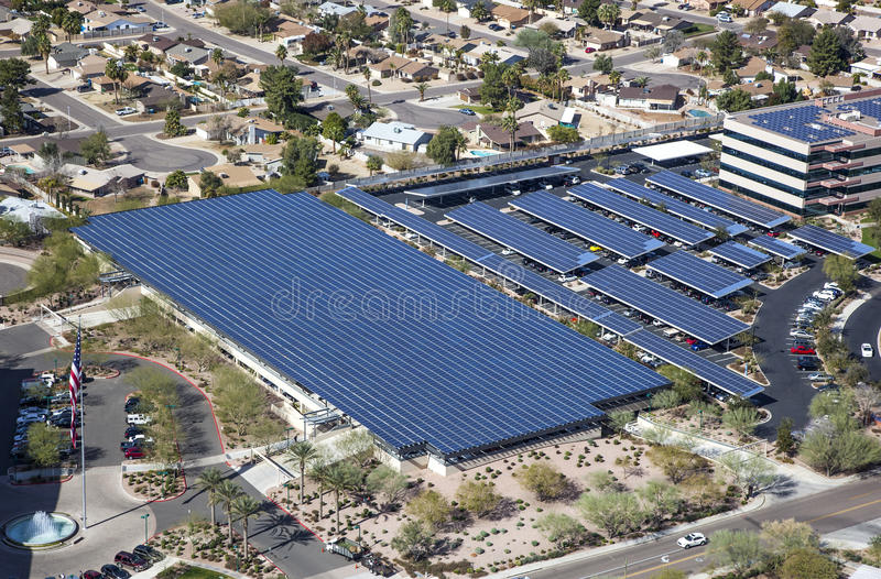 Solar Powered Parking royalty free stock photos