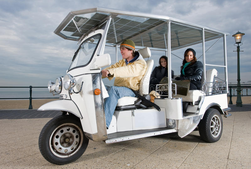 Download Solar Powered Tuc Tuc At The Beach Stock Photography - Image: 13125802