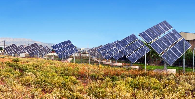 Solar pwoer units stock photo