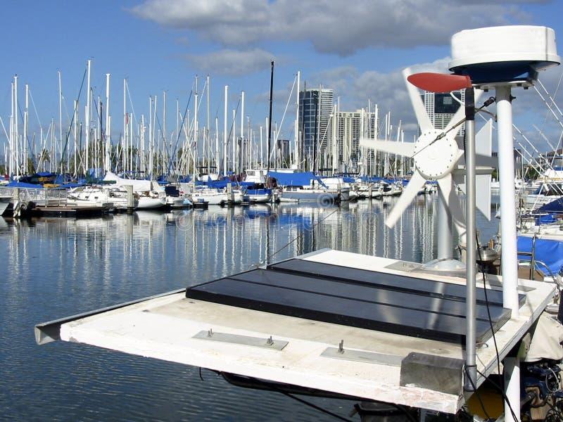 Solar Sailboat royalty free stock image