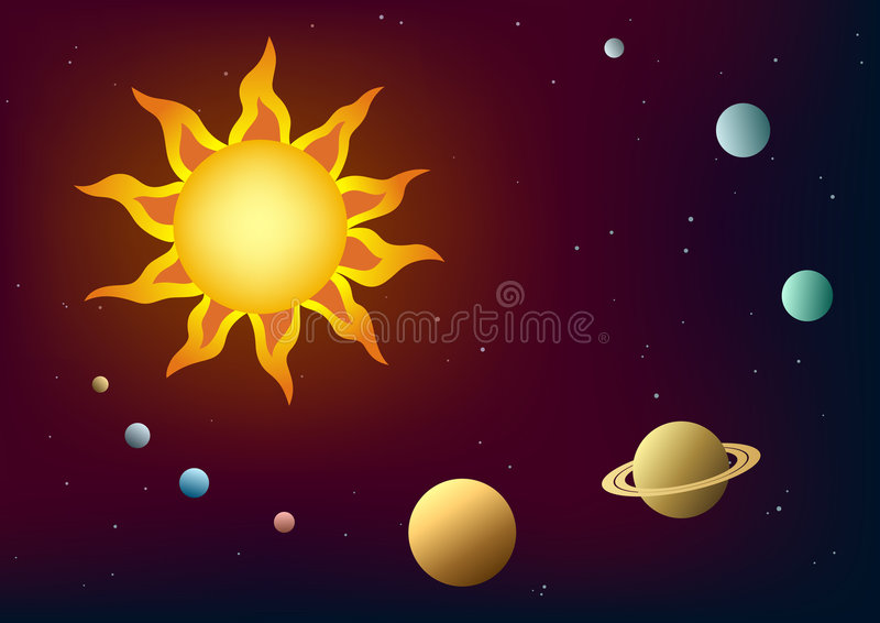 Download Solar system stock vector. Image of planets, spheres, star - 3879279