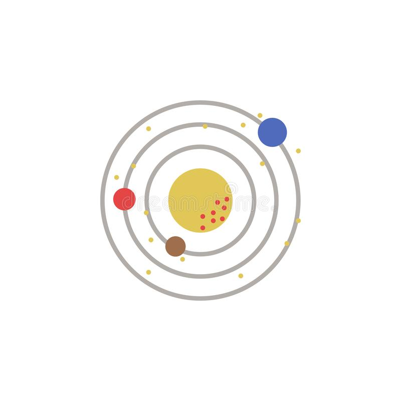 Solar system colored icon. Element of space illustration. Signs and symbols icon can be used for web, logo, mobile app, UI, UX stock illustration