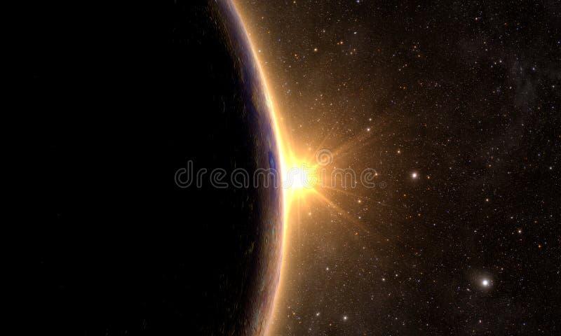 Solar System - Planet Mercury vector illustration