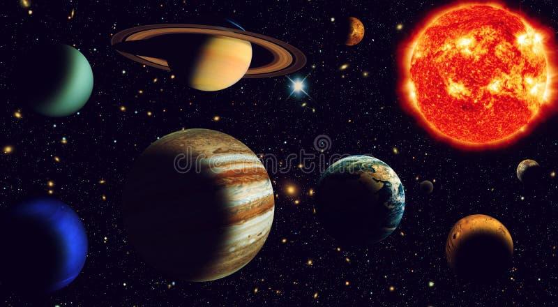 Solar system vector illustration