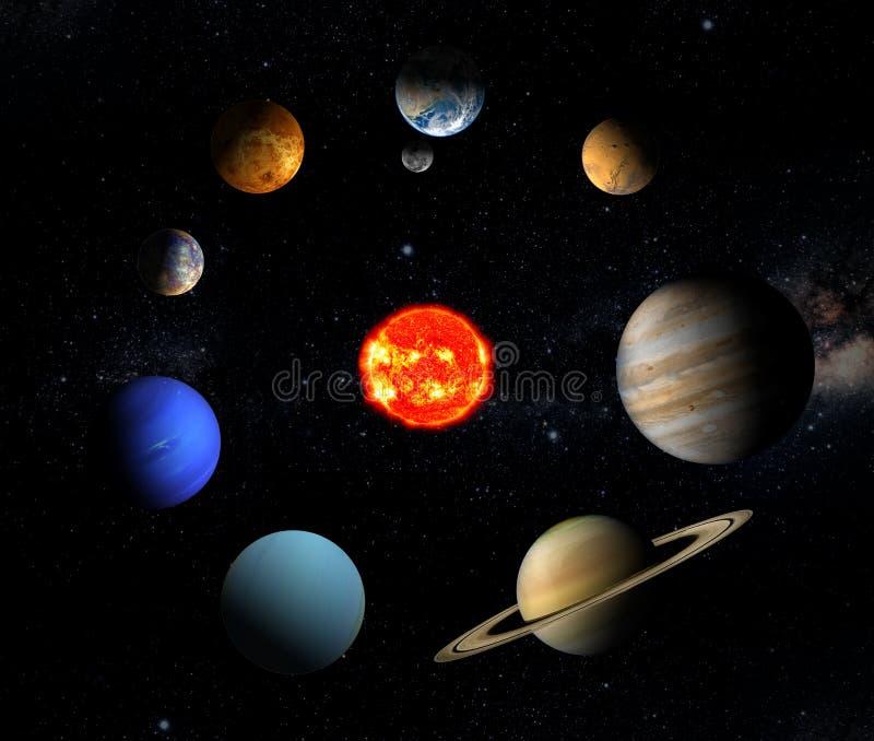 Solar system stock illustration