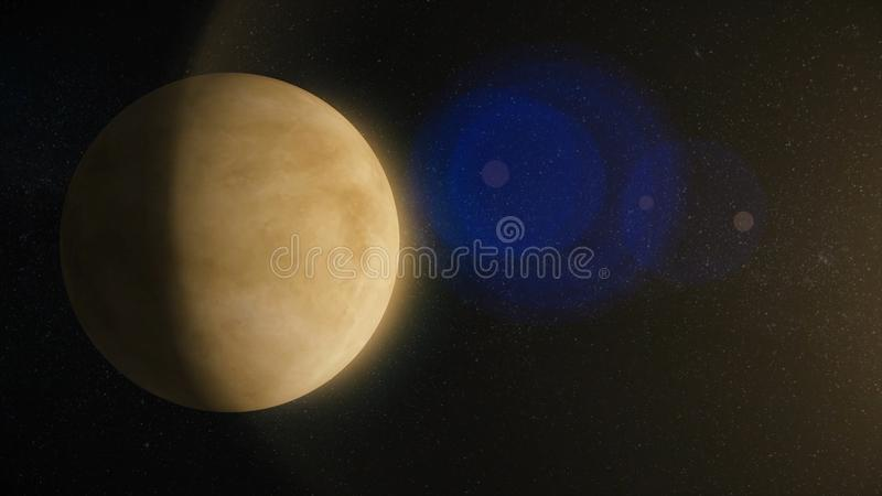 Solar System - Venus. It is the second planet from the Sun. It is a terrestrial planet. After the Moon, it is the. Brightest natural object in the night sky royalty free stock photos