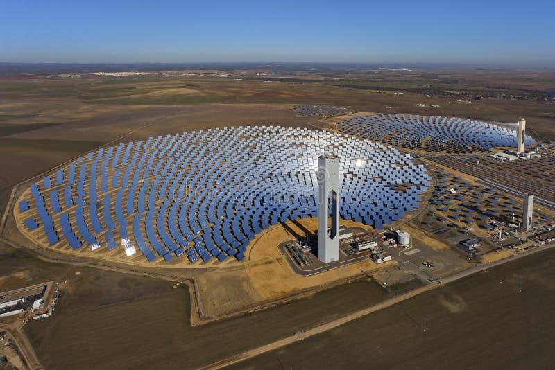 Solar thermal power plant stock photos
