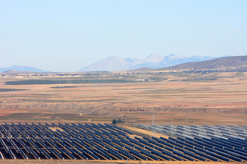Solar thermal power station of Guadix, Spain royalty free stock photos