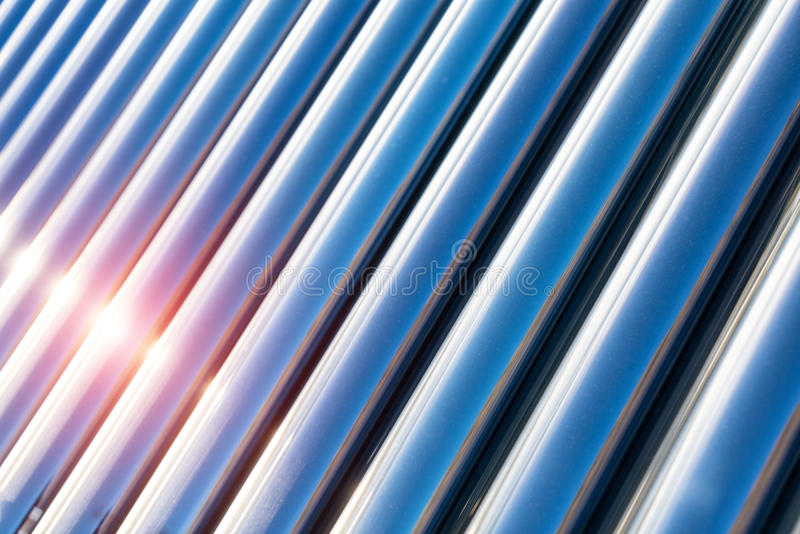 Solar water heater closeup royalty free stock images
