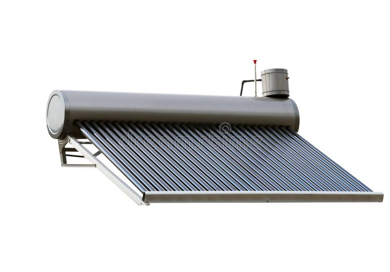 Solar Water Heater Energy System isolated royalty free stock photo