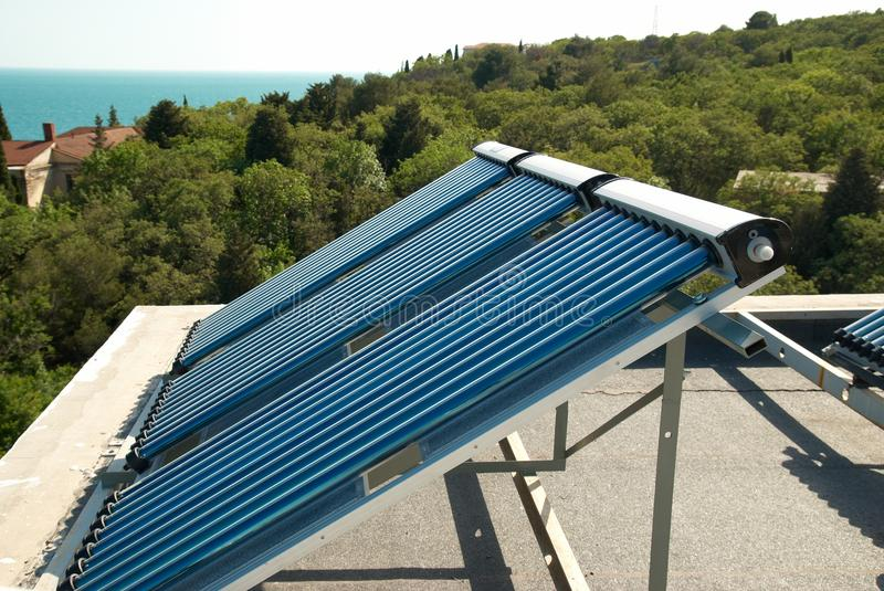 Solar water heating system royalty free stock photos
