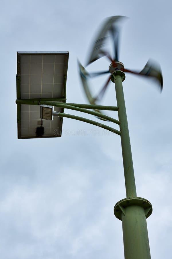 Solar & Wind Dual Street Lamp stock photos