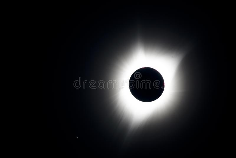 Solar wind eclipse royalty free stock photo