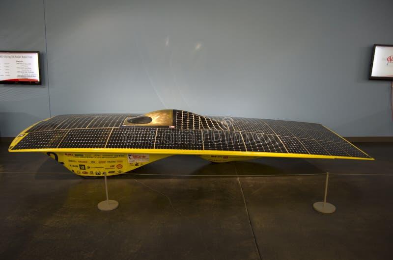 Solarauto stockfoto