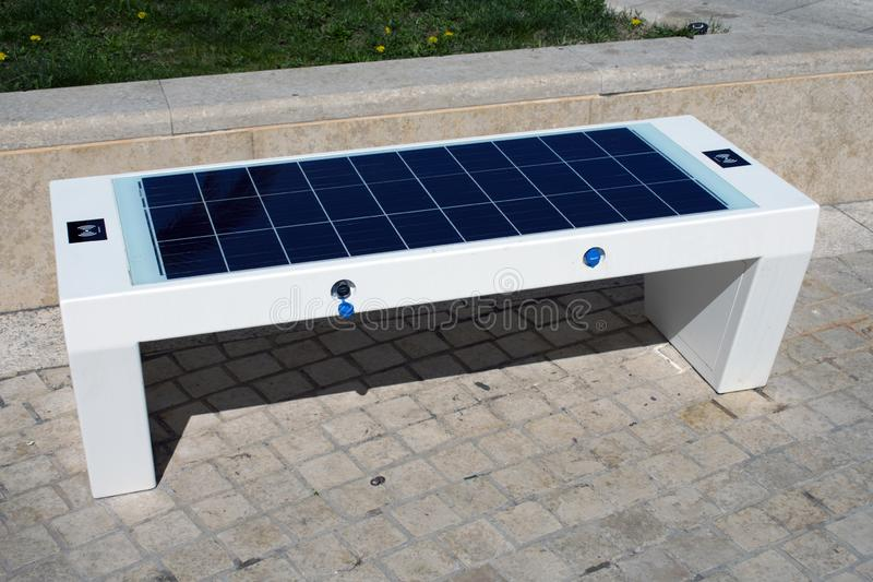 Solarbank stockfotografie