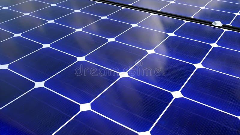 Solarbatterieoberfläche, Solarenergie-Generationstechnologie der Illustration 3D, diese ist alternative Energie lizenzfreie abbildung