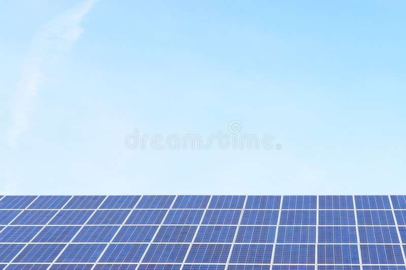Solarcell. Solar-cells on a roof stock images