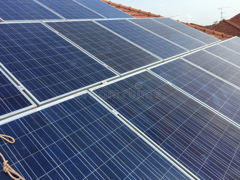 Solarcell Platte stockfoto