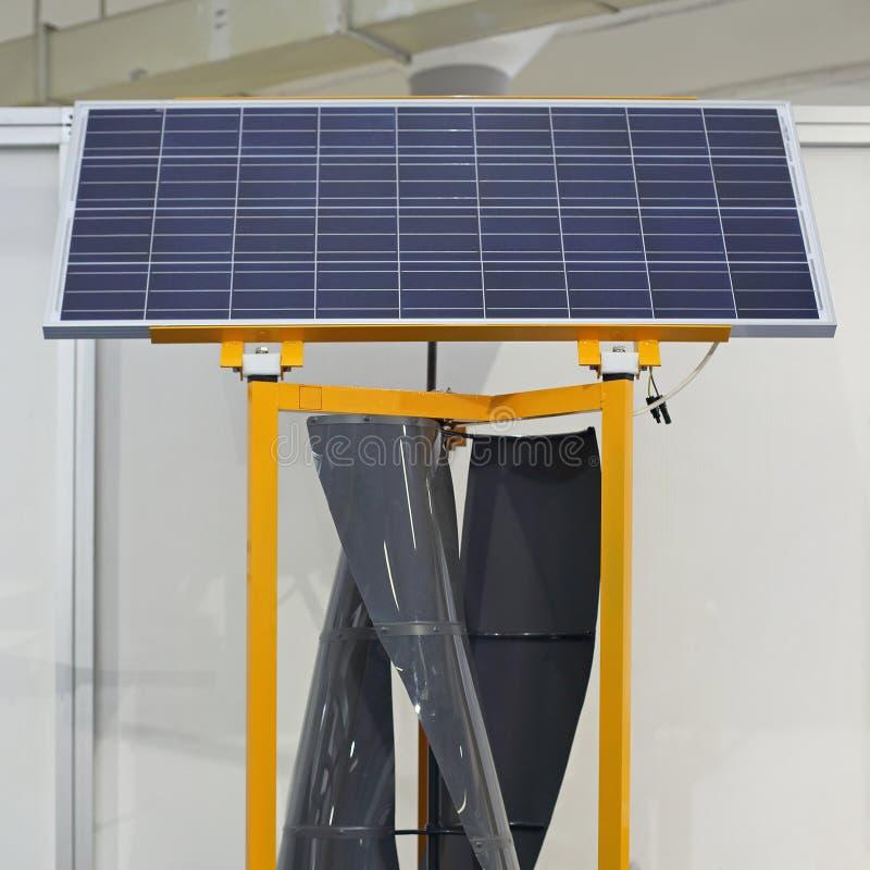 Solare e vento fotografia stock