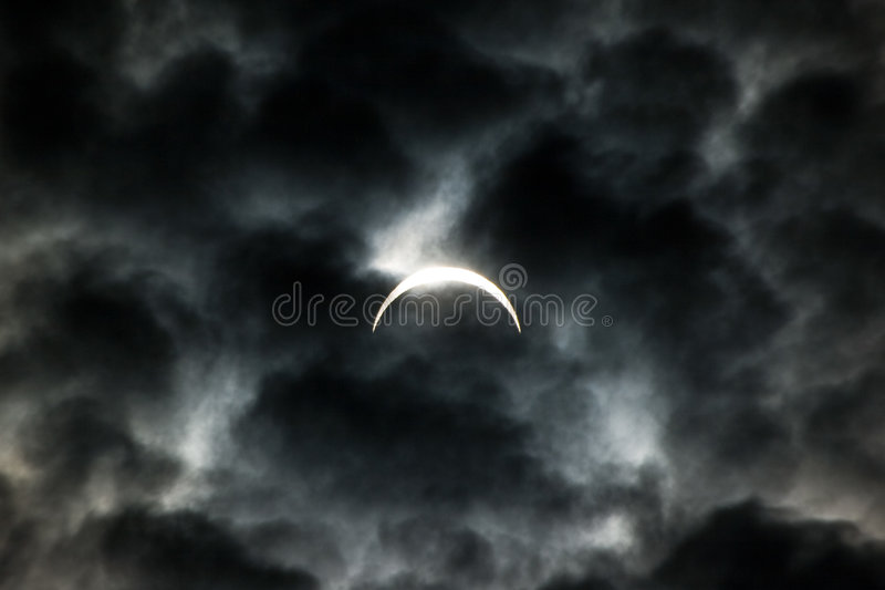 Solareklipse 2008 lizenzfreies stockfoto