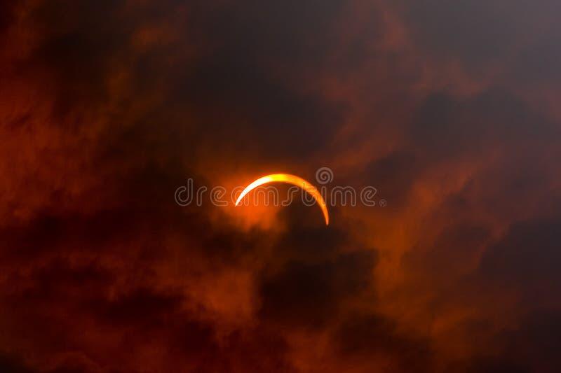 Solareklipse 2008 stockfotografie