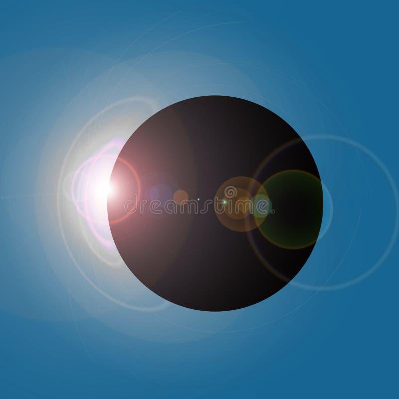 Solareklipse lizenzfreie abbildung