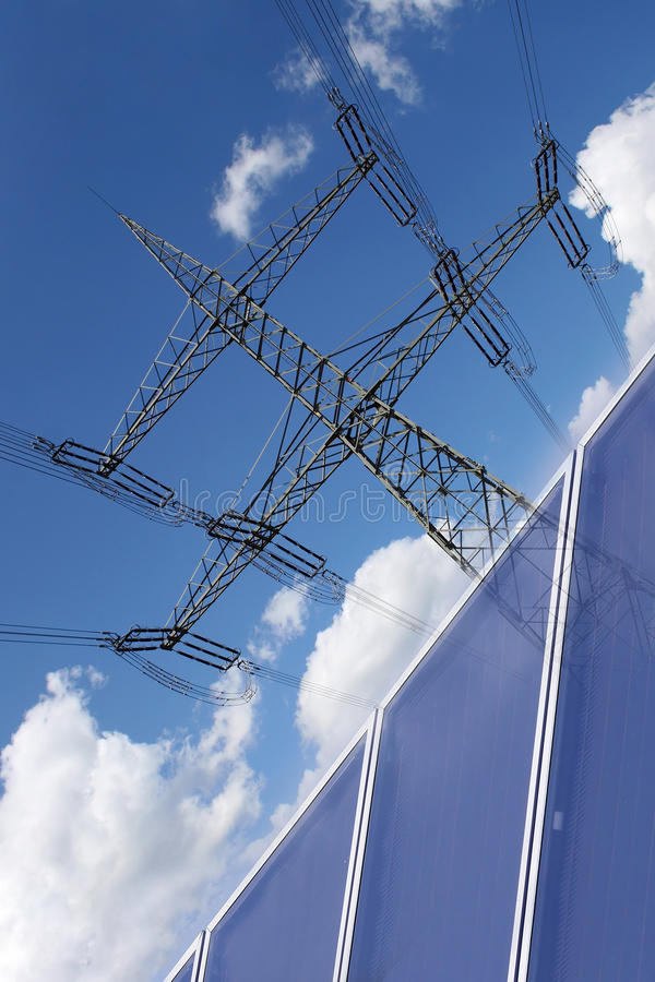 Solarenergie Auch zur Stromerzeugung lizenzfreie stockfotografie