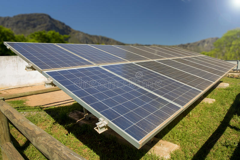 Solarenergie Süd lizenzfreie stockbilder